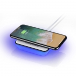 square with light Trending QI Wireless Charger portable charger For iPhone Samsung Fast 10W Wireless charger